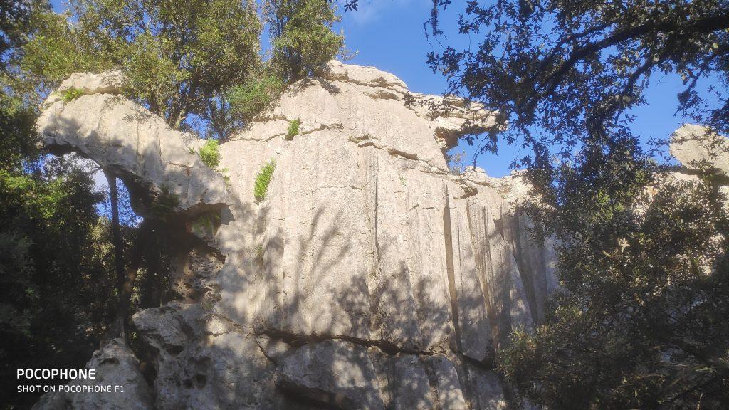 Roca con la forma de un camello en la ruta Vuelta al Puig Roig