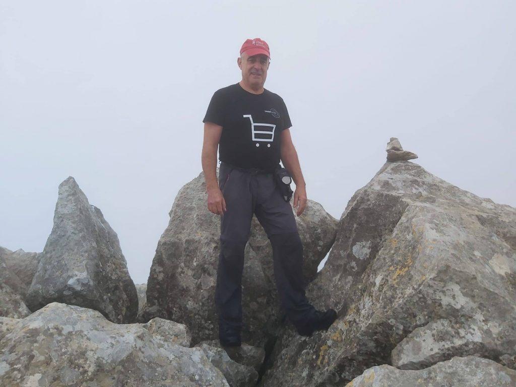 En la cima del Puig de n'Alí de la Ruta del Puig de n'Alí
