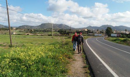 Camino al lado de la carretera