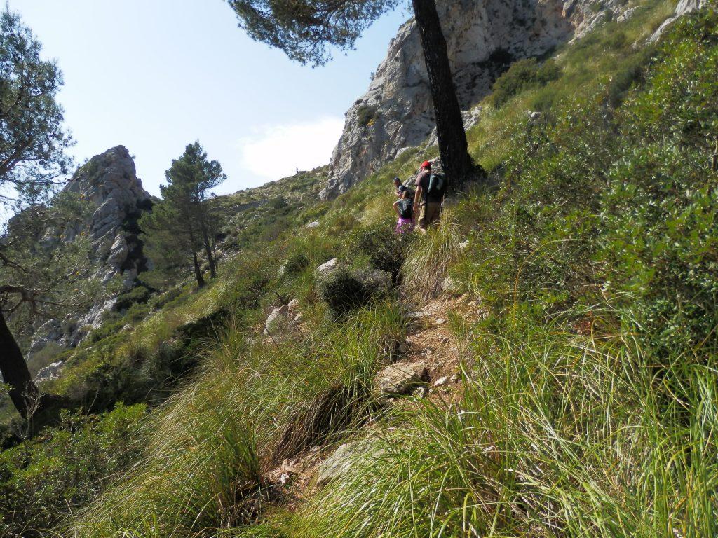 Pas desRatxo en la ruta Puig de Galatzó-Pas des Ratxo