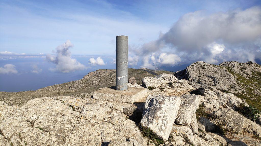 Cima del Puig des Teix en la ruta Puig des Teix-Puig de Sa Font