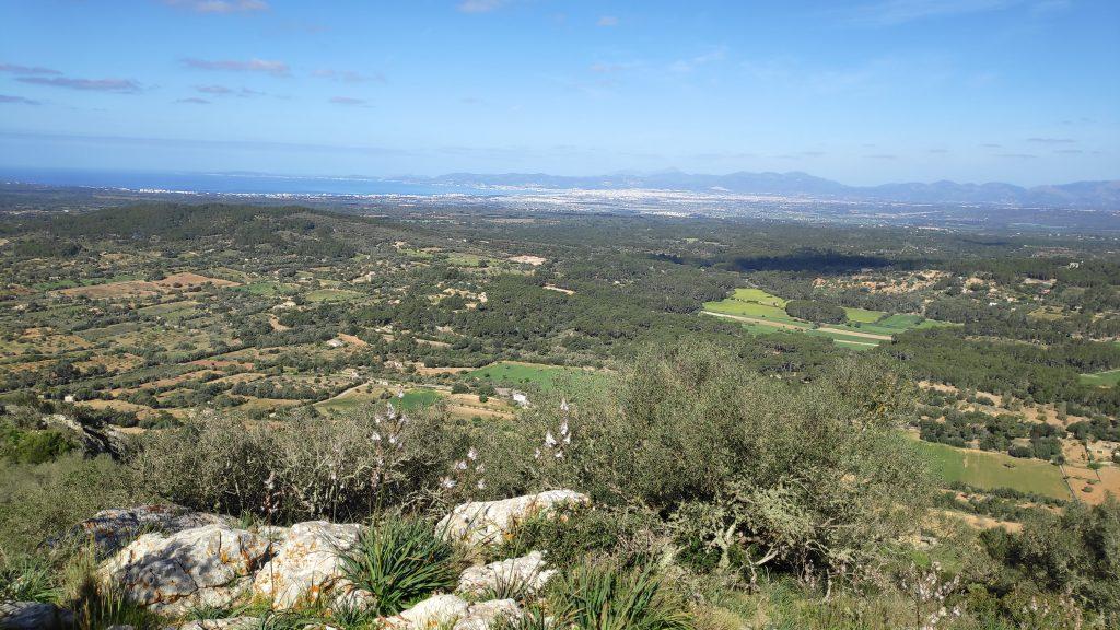Serra de Galdent desde Llucmajor